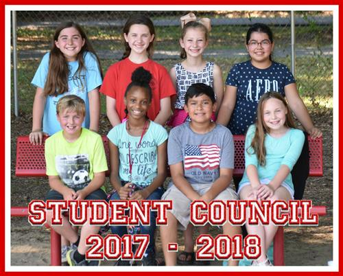 2017-2018 Student Council Staff