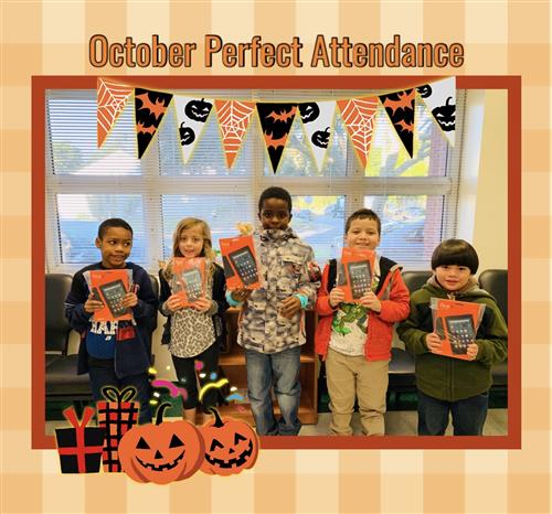 Oct. Perfect Attendance Winners