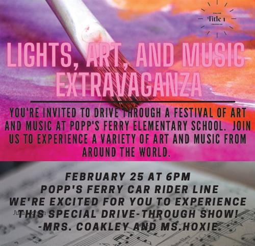 Lights, Art, and Music Extravaganza