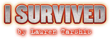 Image of the I Survived Logo along with the name of Author Lauren Tarshis
