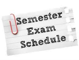 Term II CTA Exam Schedule