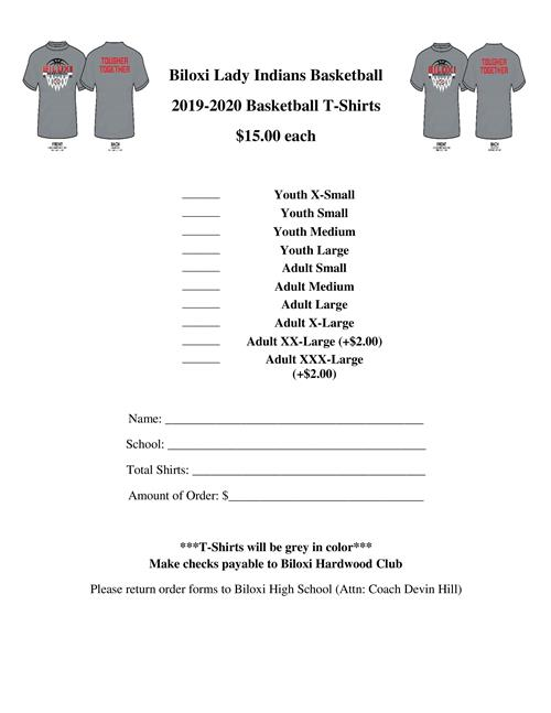 Lady Indians T-Shirt Fundraiser