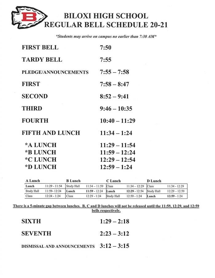 Regular Bell Schedule
