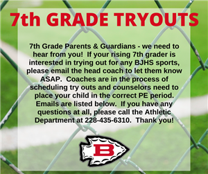 7th grade sports tryouts