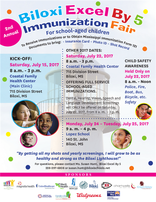 Upcoming Immunization Fair