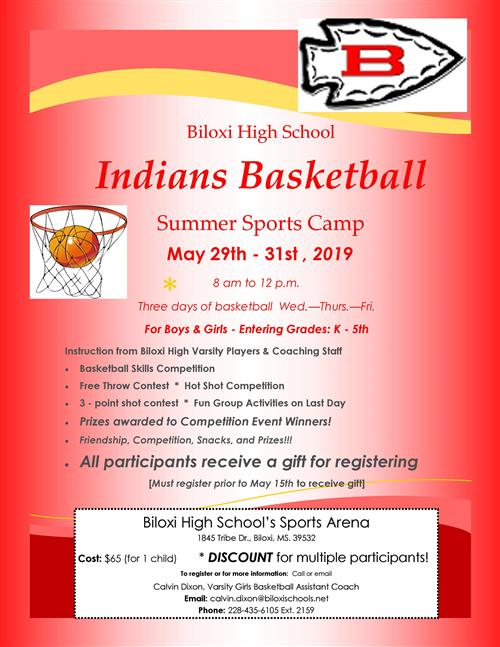 Little Indians Basketball Camp