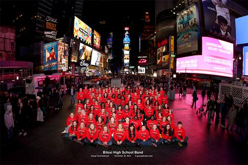 Biloxi Band in Times Square