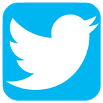 Twitter logo and link