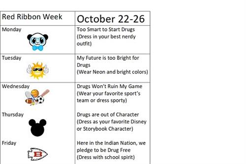 Red Ribbon Week Daily Themes