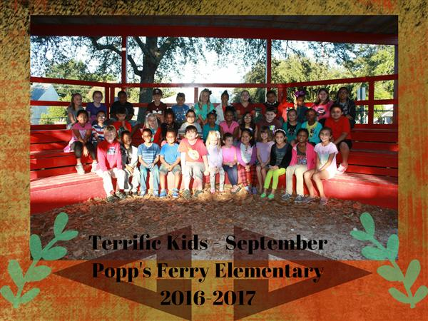 Popp's Ferry September Terrific Kids