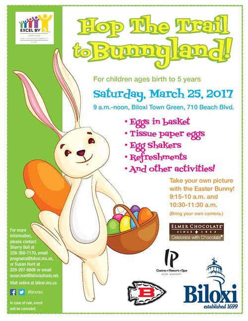 Hop the Trail to Bunnyland flyer