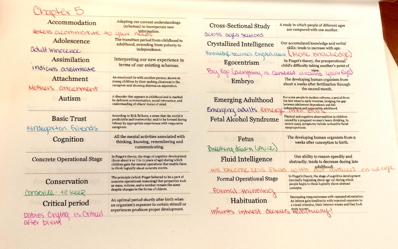 Griffey Rickey Unit 9 Development – Psychsim 5 Worksheets